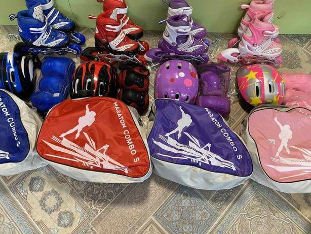 Набор ролики Maraton Combo(ролики,защита,шлем),переставные колеса