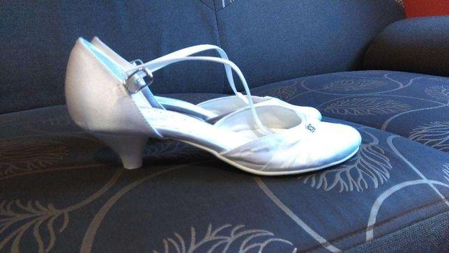 Buty białe ślubne rozm.38