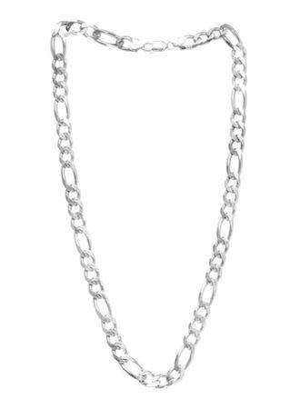 Cordao 55 cm x 2mm banhado a prata novo