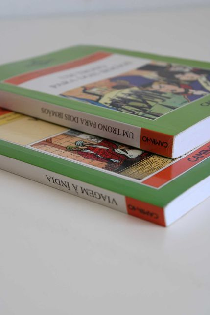 """Livros-""""um trono para dois irmãos"""" """"viagem à Índia"""" (portes incluídos)"""