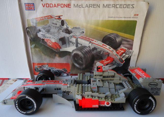 MEGA BLOKS - Vodafone - McLaren Mercedes + Manual de Instruções