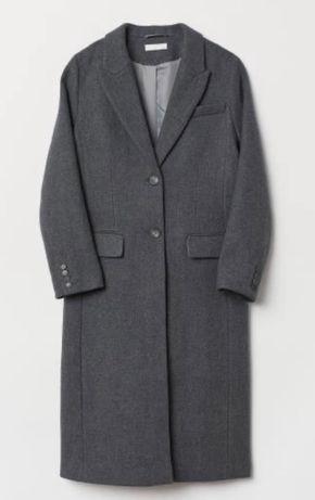 Шерстяное пальто H&m Premium р xs Zara Mango Cos
