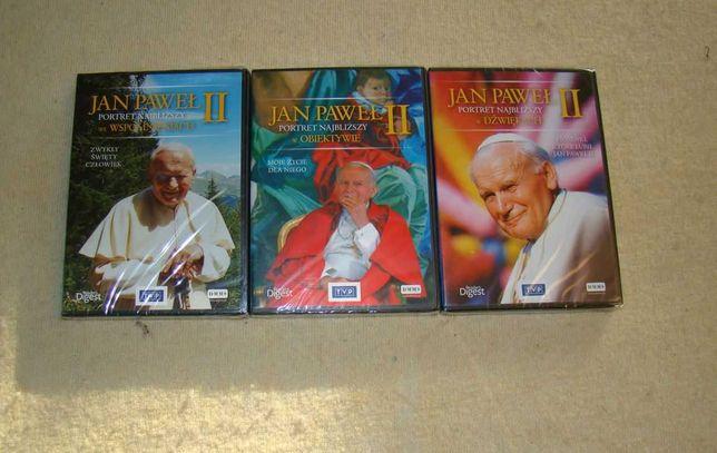 Zestaw : 4 płyty DVD  dotyczące Jana Pawła II