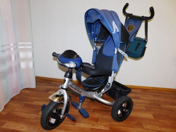 Велосипед трехколесный Azimut Lambortrike с фарой на надувных колесах