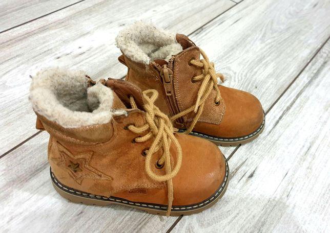 Lasocki buty zimowe kozaczki dla dziewczynki rozm 22 skóra
