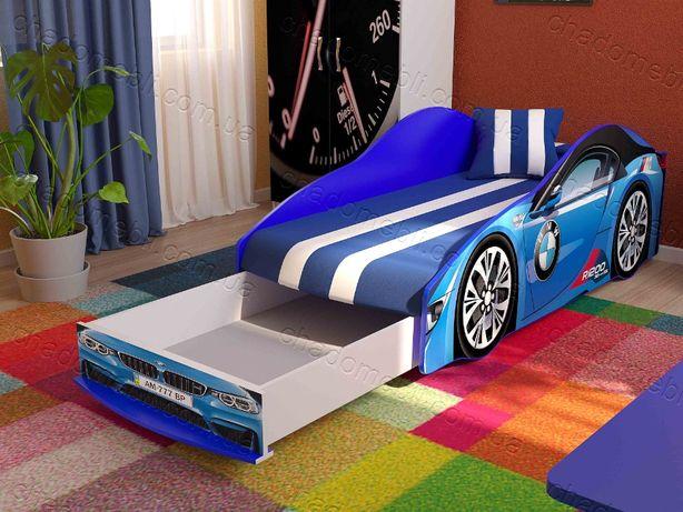 Ліжко машина з матрасом-механізмом кроватка машина БМВ кровать 70х155