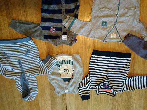 Zestaw bluzy swetry rozmiar 68,  6sztuk