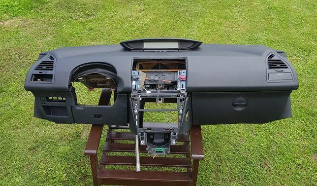 Citroen C4 I, deska kompletna, konsola przekładka Europa