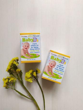 California Gold Nutrition, Витамин D 3 в каплях для детей, 400 МЕ