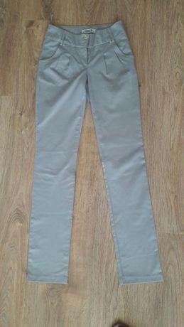 spodnie - siwe, proste, eleganckie r. 36