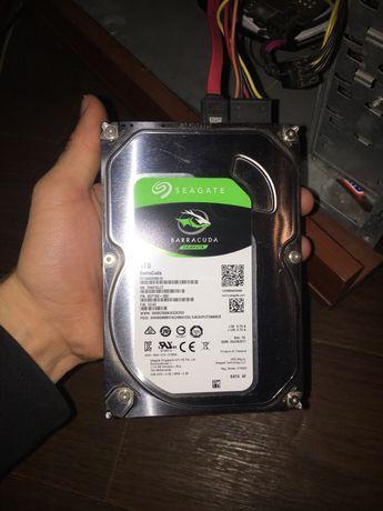 "Рабочий 1TB HDD жесткий диск Seagate 7200 3.5"" (не ssd 480 500 gb гб)"