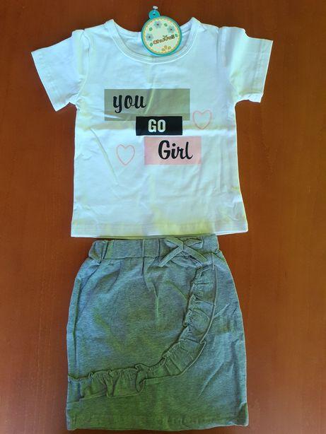 Nowy komplet dla dziewczynki 98-104