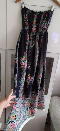 Sukienka ciążowa 44 New Look odkryte ramiona XXL czarna ubrania odzież
