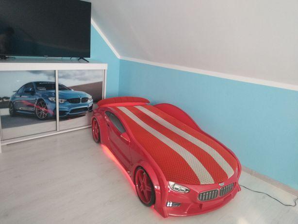 Łóżko samochód BMW podświetlanie LED full opcja