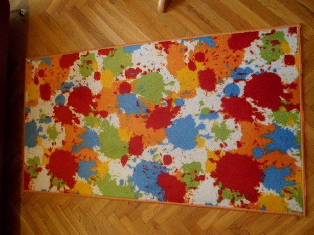 Dywan 150 cm x 80 cm - wzór kolorowe plamy - Łódź