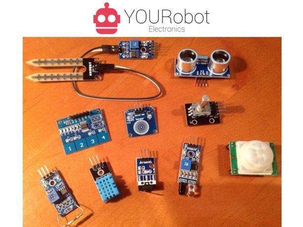 Diversos sensores NOVOS para Arduino (distância, humidade, toque, etc)