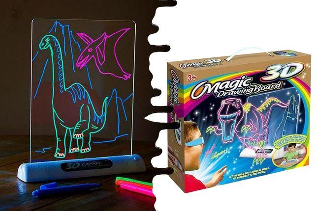 Детская развивающая 3D доска для рисования Magic Drawing набор