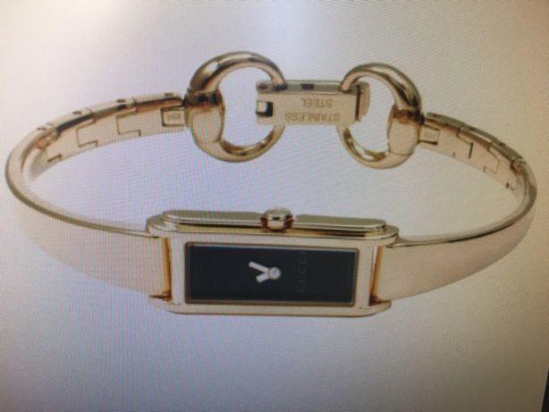 Zegarek Gucci oryginalny złoty czarna tarcza