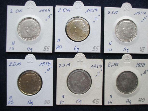 Zestaw srebrnych monet .Oryginały !!! 49