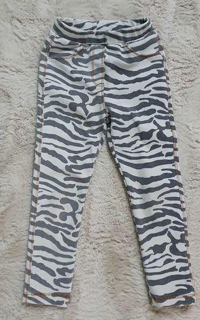 Spodnie legginsy Zara rozmiar 116