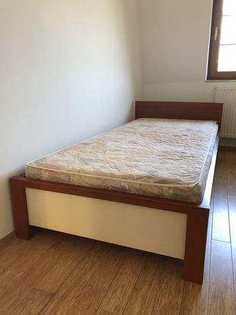 Łóżko z materacem 206x97 stan bardzo dobry