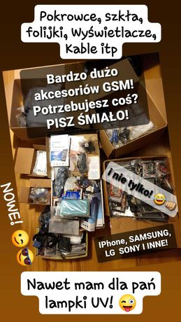 WYPRZEDAŻ! Akcesoria GSM i Części! SAMSUNG, IPhone, LG, SONY i więcej!
