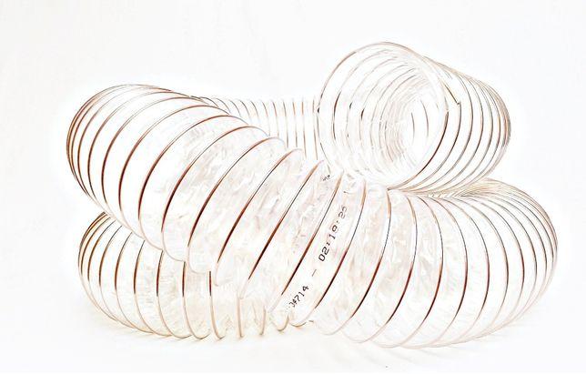 Wąż rura przewód odciąg trocin 120x3m POLIURETAN spiro