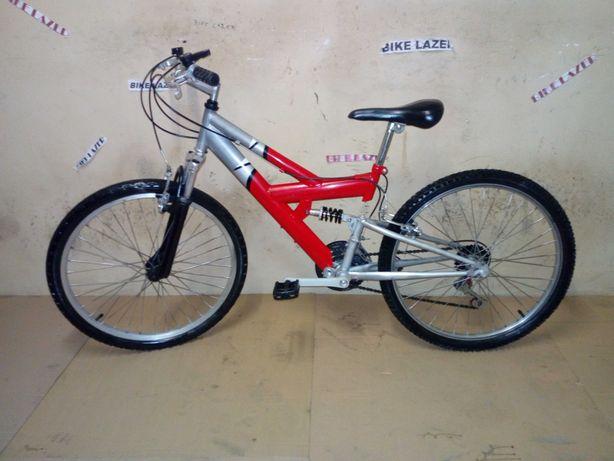 Bicicleta R24 Com Dupla Suspensão Como Nova Barata