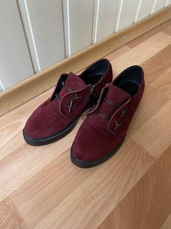 Туфли бордовые. Туфли осенние. Ботинки осенние. Бордовые ботинки.