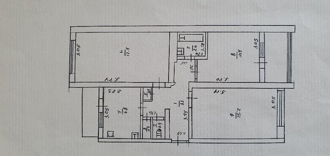 Продам 3-комнатную квартиру Веселиново