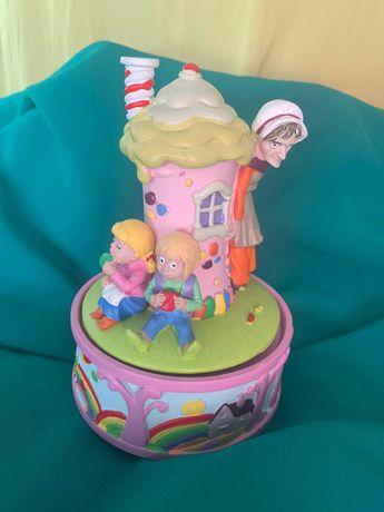 Caixa de Música Disney - A Casinha de chocolate Hansel e Gretel