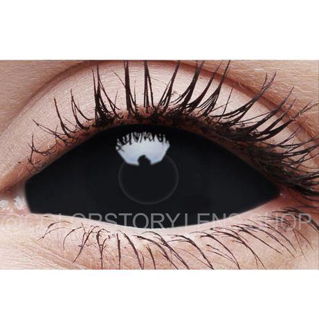 Черные склеры склеральные линзы на весь глаз Корея карнавальные