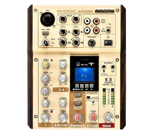 Phonic AM5GE mikser fonii AM-5 Gold Edition USB MP3 Bluetooth WAV