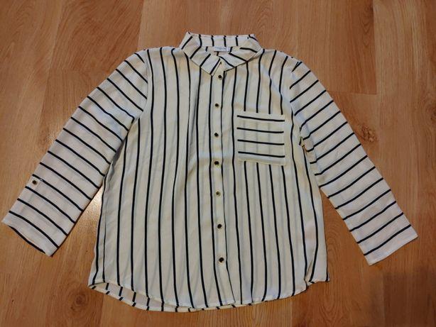 Koszula zapinana na guziki, bluzka w paski 36/S