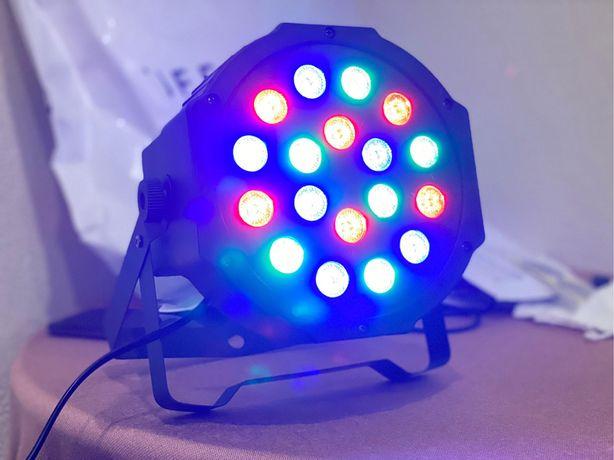 10 projetores DMX 18 leds spot