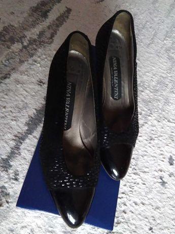 Nina Walentini ITALY buty skórzane 37/37,5
