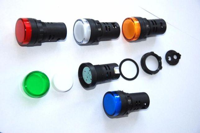 Lampka kontrolna sygnalizacyjna led 6V, 12V, 24V, 110V, 220V, 380V