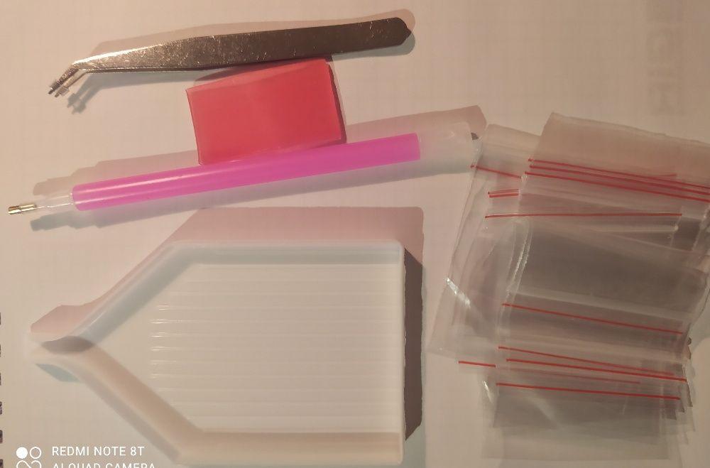 Стилус лоток пинцет клей пакеты для алмазной мозаики Красногоровка - изображение 1