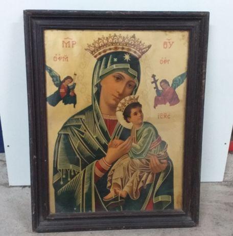 Imagem antiga de Nossa Senhora e Menino Jesus