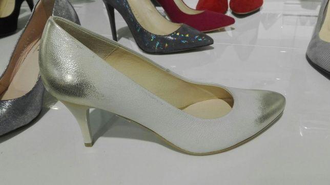 Buty skórzane ślubne