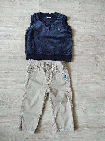 Spodnie + kamizelka roz 74