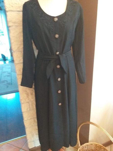 Czarna piękna sukienka w rozm.38/40.