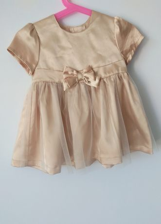 Sukienka H&M 74 złota