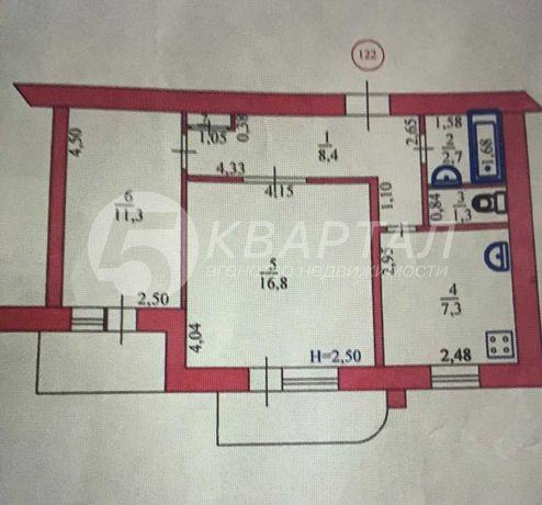 Продам 2-х комнатную квартиру в круглом доме