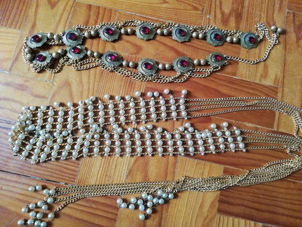 Cintos/colar/jóias