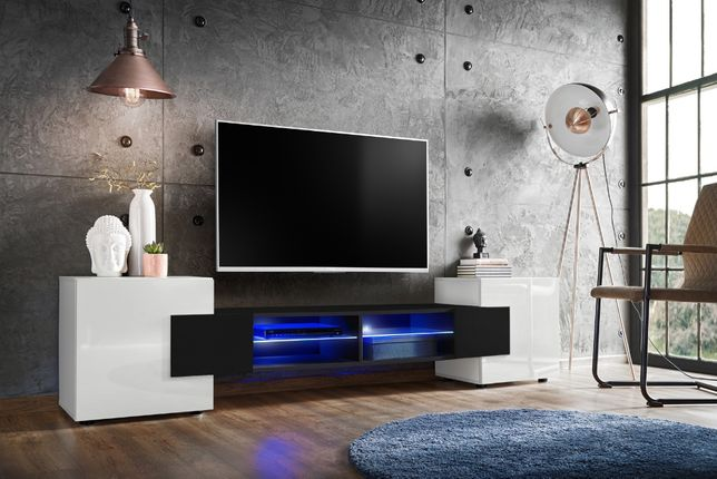 Szafka RTV / Komoda / BRIDGE / LED V-1 / różne opcje kolorystyczne