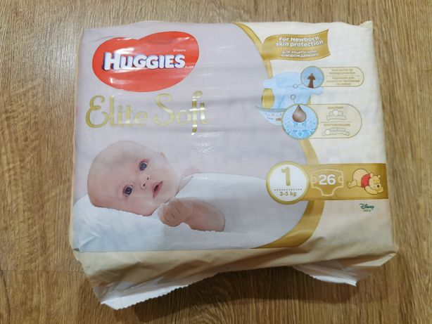 Памперси Huggies Elite Soft 1 (2-5 кг), 26 шт