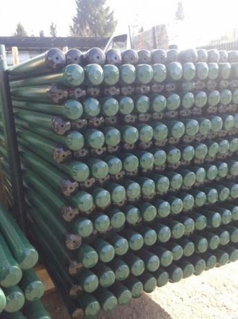 Słupki ogrodzeniowe h 1600 pcv zielony
