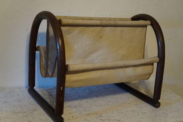 Stary Gazetnik Bambusowy Loft Design Industrial Vintage