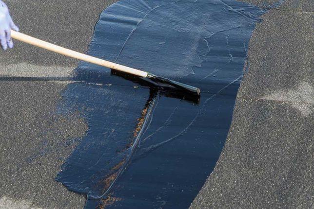 Malowanie smołowanie lepik masa asfaltowa smoła na gorąco konserwacja
